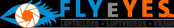 Logo Flyeyes.de Luftbilder - Luftvideos - VR360 Grad - by Fugmann-Media.de